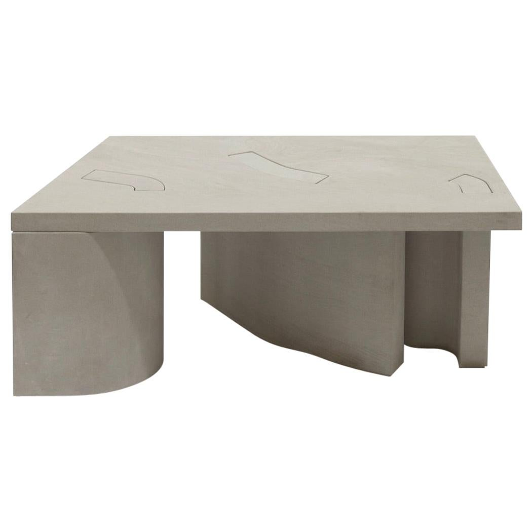 Unsighted Table 5 by Bahraini-Danish in Giallo Avorio Marble