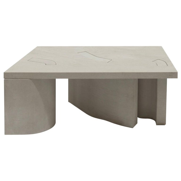 Unsighted Table 5 by Bahraini-Danish in Giallo Avorio Marble For Sale
