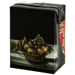 Untitled #10 From Biotá Series, Still-Life Oil Painting on a Cardboard Box