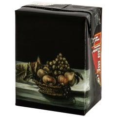 """Untitled #10"" from ''Biotá'' series, Still-Life Painting on Cardboard Box"