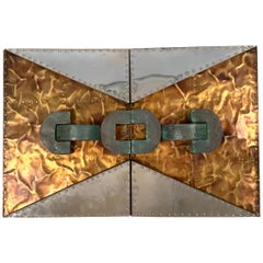 'Untitled' 1970s Sculpture in Copper and Brass