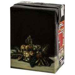 Untitled #9 from Biotá Series, Still-Life Oil Painting on a Cardboard Box