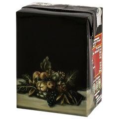"""Untitled #9"" from ''Biotá' series, Still-Life Painting on Cardboard Box"