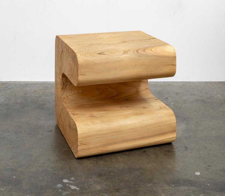 Modern Untitled Deodar Cedar Sculptural Side Table by Christopher Norman For Sale