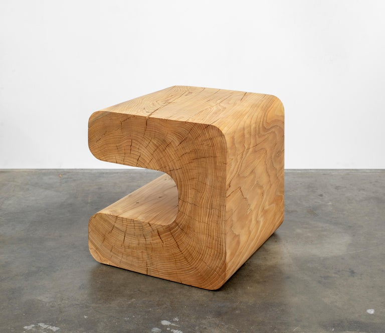 American Untitled Deodar Cedar Sculptural Side Table by Christopher Norman For Sale