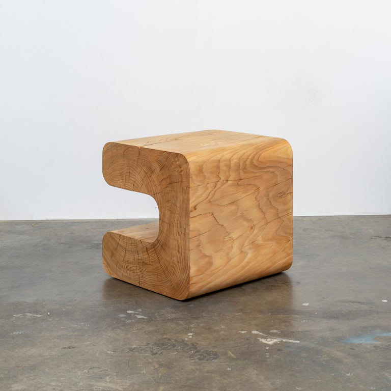 Untitled Deodar Cedar Sculptural Side Table by Christopher Norman In New Condition For Sale In Brooklyn, NY