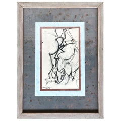 Untitled Figurative Abstraction Drawing by William Littlefield
