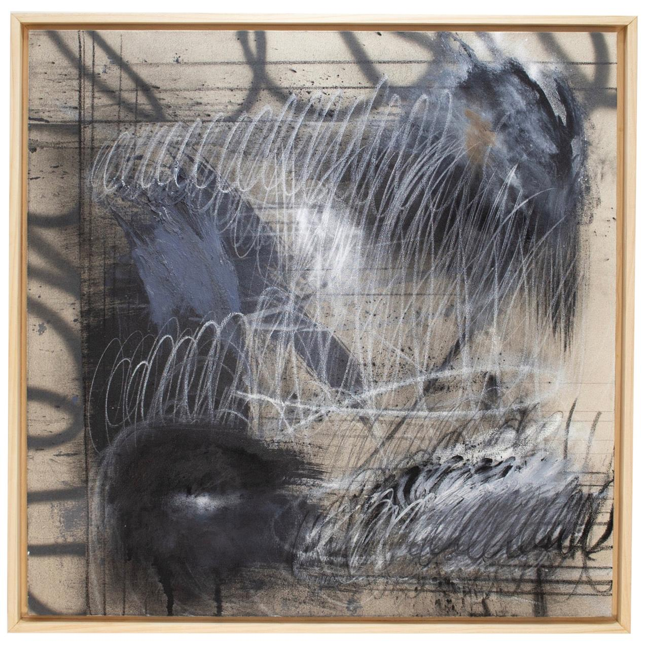 Untitled I Mixed-Media on Canvas by Sarah Dupré