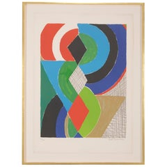 """Untitled"" Lithograph in Colors by Sonia Delaunay"