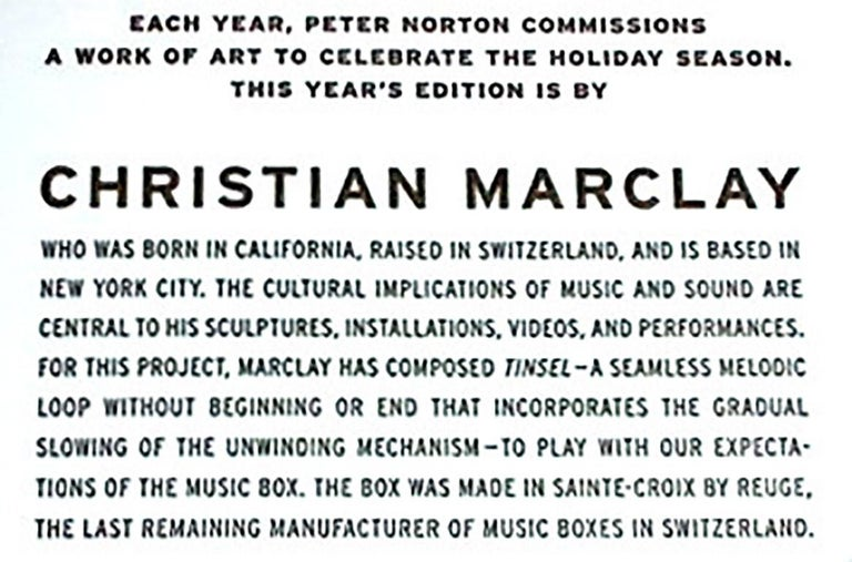 Hand-Crafted Untitled 'Music Box' by Christian Marclay For Sale