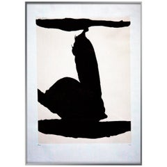 Untitled, Plate 1 Africa Suite, Signed Robert Motherwell, circa 1970