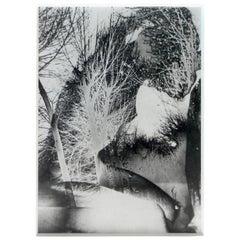 Untitled 'Solarized Double Exposure', Framed Solarized Vintage Print