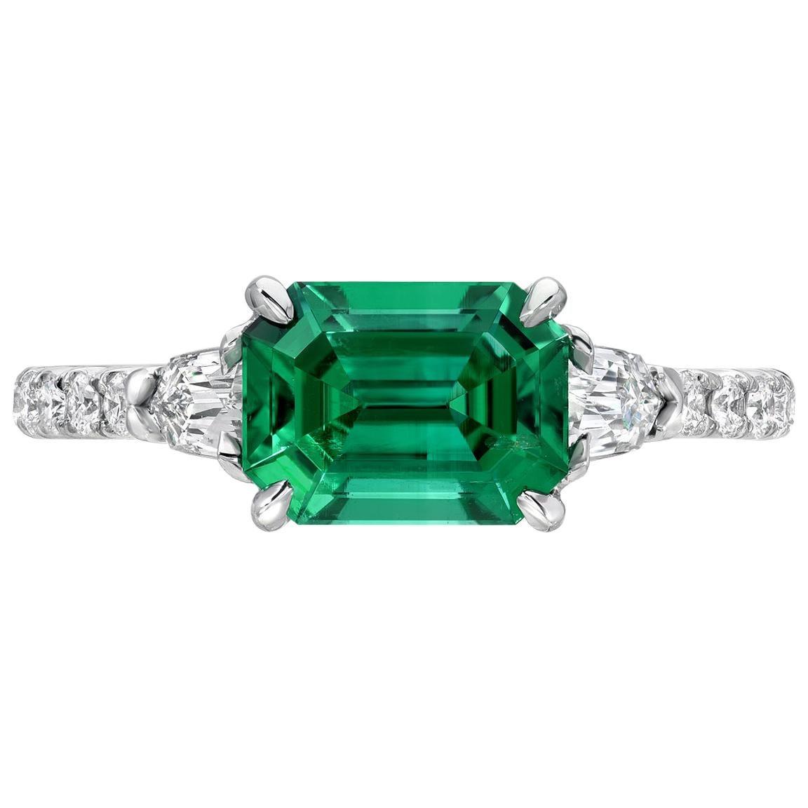 Untreated Emerald Ring 1.47 Carat No Oil AGL Certified Panjshir Afghanistan