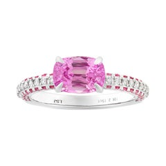 Untreated Pink Sapphire Ring, 2.19 Carats