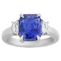 Untreated Sapphire Ring, 3.56 Carat
