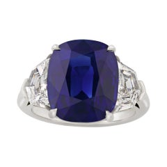 Untreated Sapphire Ring, 9.68 Carats