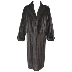 Brand New Perry Ellis Ranch Mink Fur Coat (Size 10-M)