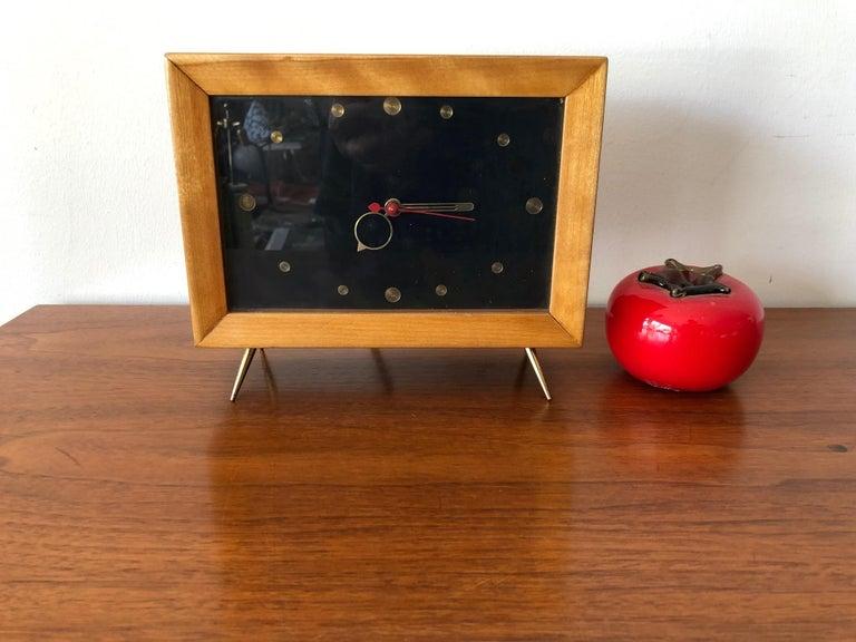Mid-20th Century Unusual 1950s TV Clock For Sale