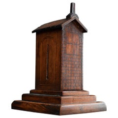 Unusual 19th Century English Treen Folk Art Match Box