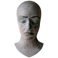 Unusual 19th Century European Painted Mask of a Lady