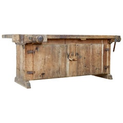 Unusual 19th Century Pine Sideboard Workbench