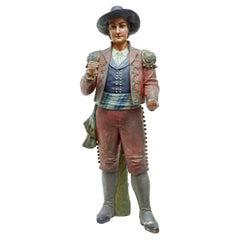 Unusual 19th Century Spanish Figure Terracotta Planter