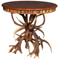 Unusual 20th Century Antler Horn Table by Anthony Redmile, circa 1970