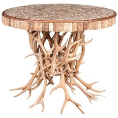 Unusual 20th Century Antler Horn Table in the Manner of Anthony Redmile