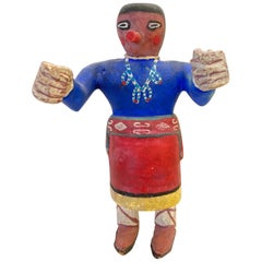 "Unusual 20th Century Kachina ""style"" Doll of a Navajo Figure with Large Hands"