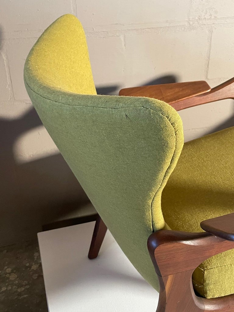 Unusual Adrian Pearsall Armchairs with Ottomans For Sale 4
