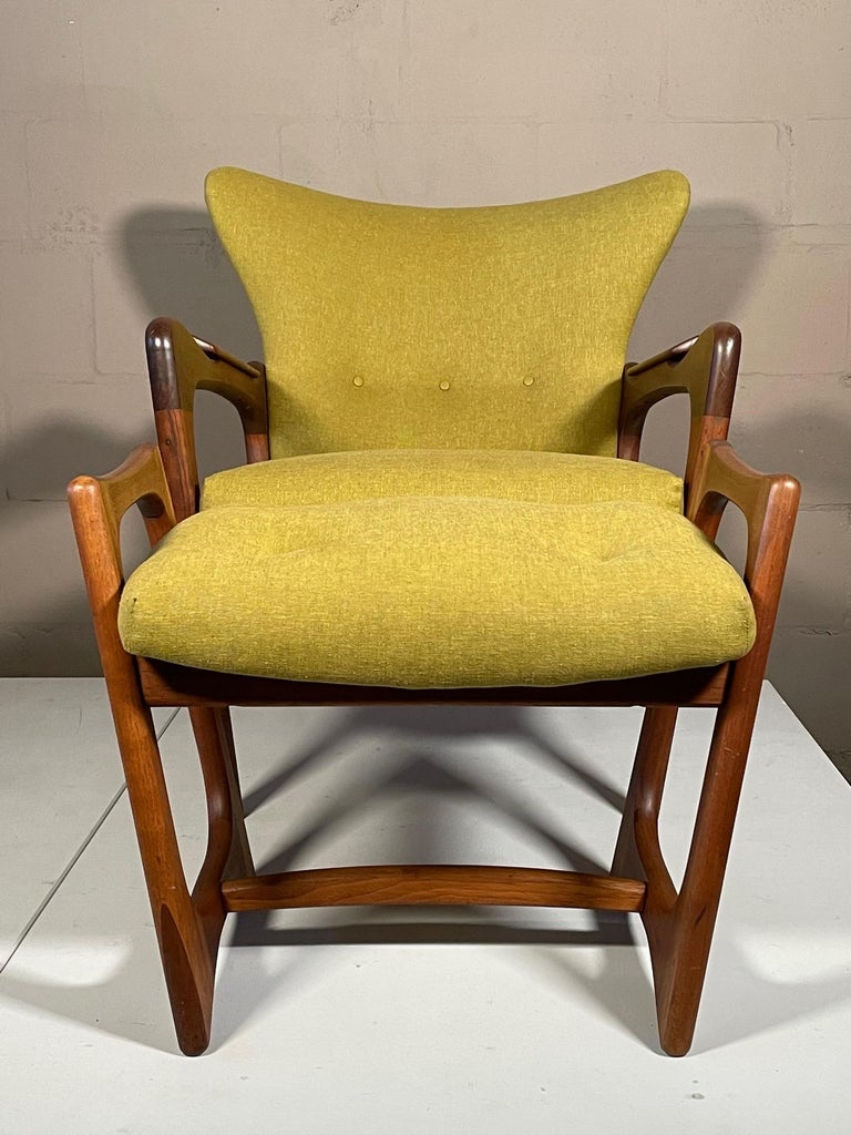 Unusual Adrian Pearsall Armchairs with Ottomans For Sale 11