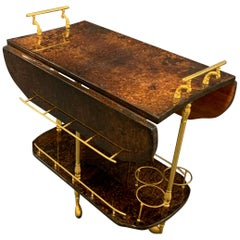 Unusual Aldo Tura Bar Cart