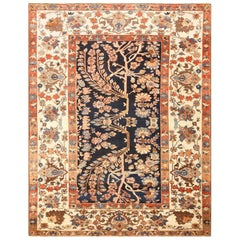 """Unusual and Rare Antique Tribal Persian Malayer Rug. Size: 9' 9"""" x 12' 6"""""""