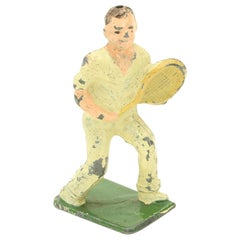 Unusual and Rare Lead Male Tennis Figure Made by John Hill & Company
