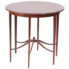 Unusual Antique Edwardian Mahogany Inlaid Centre Table