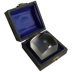 Unusual Antique English Boxed Magnifying Glass or Lens, circa 1910
