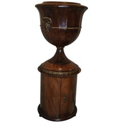 Unusual antique French classical mahogany  Urn Jardinière / Wine Cooler