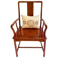 Unusual Antique Hardwood Chinese Armchair