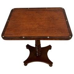 Unusual Antique William IV Satinwood Inlaid Lamp Table