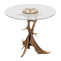 Unusual Antler Horn Side Table by Anthony Redmile, London, circa 1970