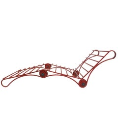 Unusual Architecturally-Inspired Chaise Lounge