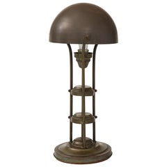 Unusual Art Deco Bronze Lamp