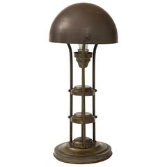 Unusual Art Deco Bronze Lamp