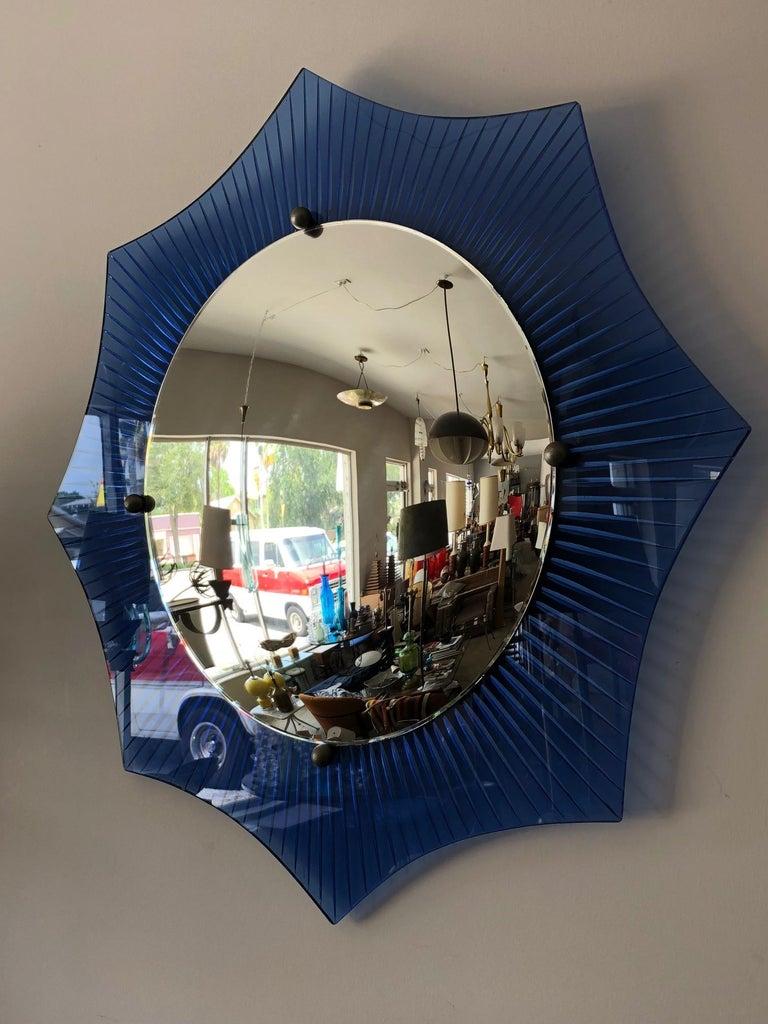 Unusual Art Deco Convex Mirror Circa 1930s At 1stdibs