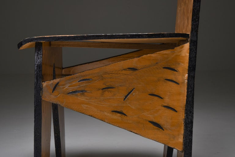 Unusual Artist Chairs, Italy, 1980s For Sale 3