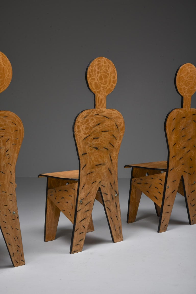 Unusual Artist Chairs, Italy, 1980s For Sale 6