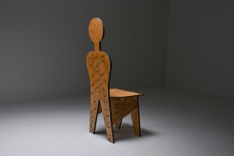 20th Century Unusual Artist Chairs, Italy, 1980s For Sale
