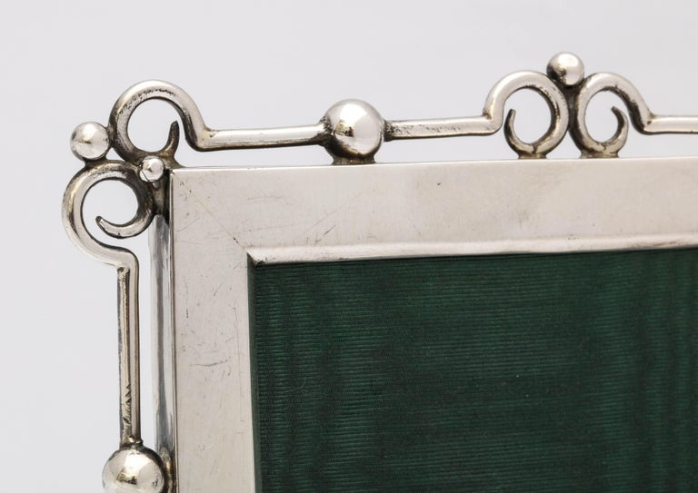 Unusual Arts & Crafts Sterling Silver Picture Frame, by E. Mander and Sons For Sale 4