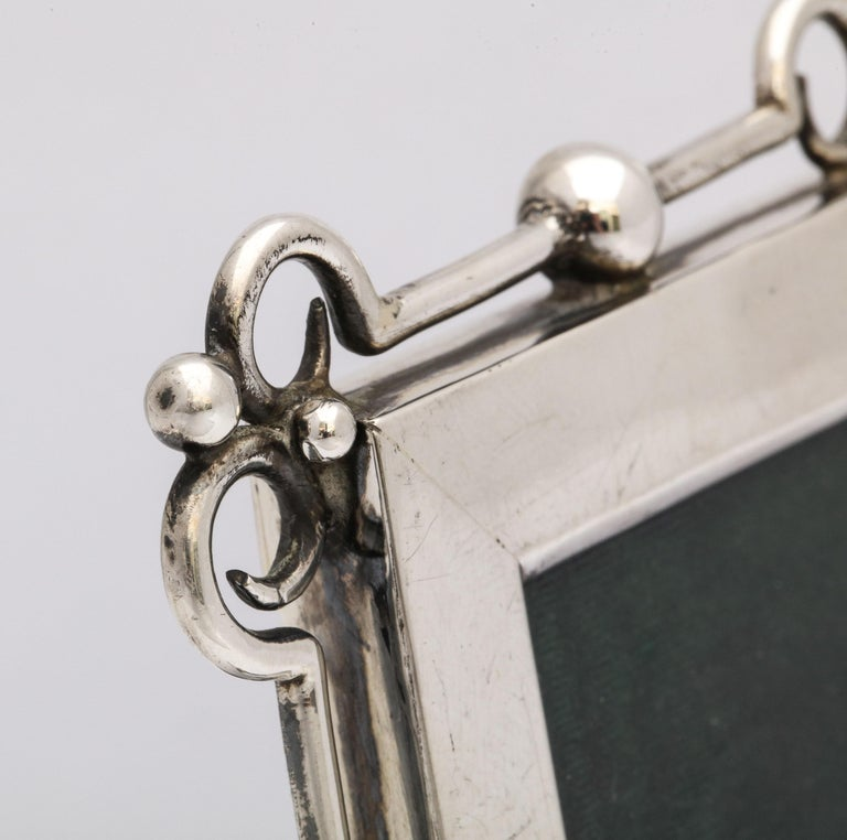 Unusual Arts & Crafts Sterling Silver Picture Frame, by E. Mander and Sons For Sale 6