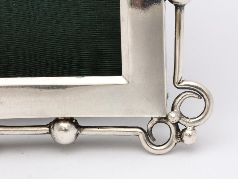 English Unusual Arts & Crafts Sterling Silver Picture Frame, by E. Mander and Sons For Sale